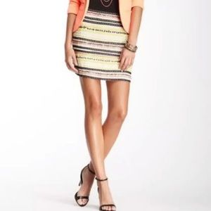 Willow & Clay Beaded Stiped Mini Skirt